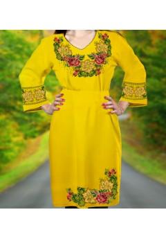 Плаття, жовтий габардин (6089)