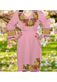 Плаття, рожевий габардин (6089)