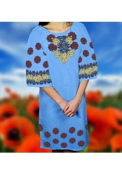Плаття, голубий габардин (6090)
