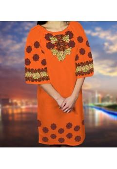 Плаття, оранжевий габардин (6090)