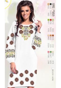 Плаття, льон білий (6090)