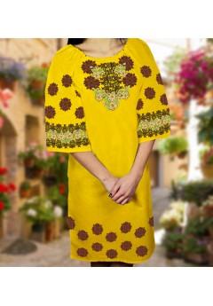 Плаття, жовтий габардин (6090)
