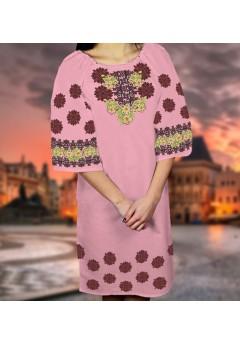 Плаття, рожевий габардин (6090)
