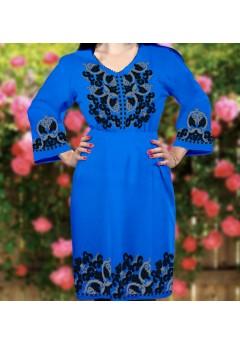 Плаття, синій габардин (6091)