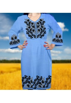 Плаття, голубий габардин (6091)