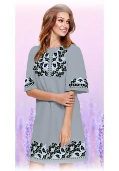 Плаття, сірий габардин (6091)