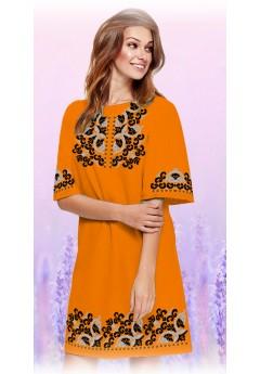 Плаття, оранжевий габардин (6091)