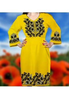 Плаття, жовтий габардин (6091)