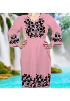 Плаття, рожевий габардин (6091)