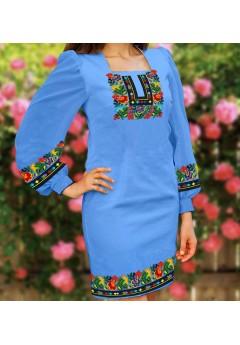 Плаття, голубий габардин (6092)