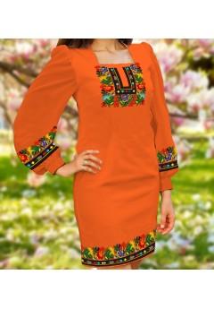 Плаття, оранжевий габардин (6092)