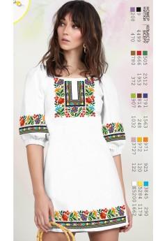 Плаття, льон білий (6092)