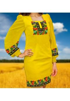 Плаття, жовтий габардин (6092)