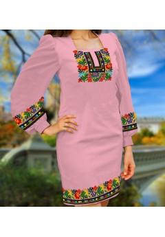 Плаття, рожевий габардин (6092)