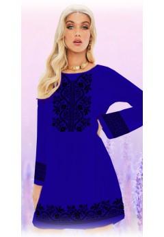 Плаття, синій габардин (6093)