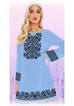 Плаття, голубий габардин (6093)
