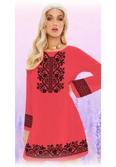 Плаття, кораловий габардин (6093)