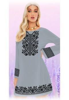 Плаття, сірий габардин (6093)