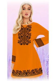Плаття, оранжевий габардин (6093)