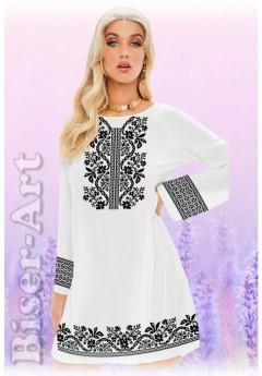 Плаття, льон білий (6093)
