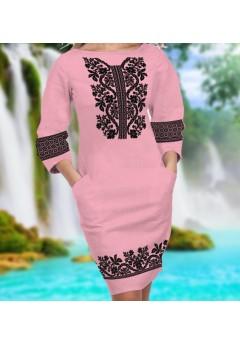 Плаття, рожевий габардин (6093)
