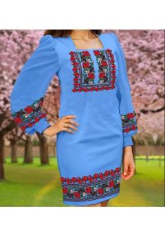 Плаття, голубий габардин (6094)