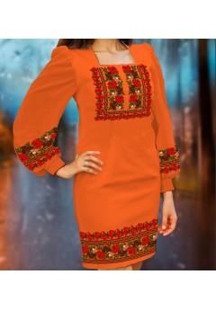 Плаття, оранжевий габардин (6094)