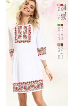Плаття, льон білий (6094)