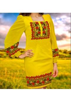 Плаття, жовтий габардин (6094)