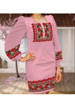Плаття, рожевий габардин (6094)