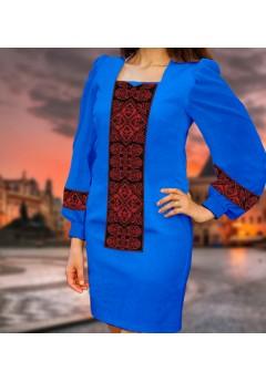 Плаття, синій габардин (6095)