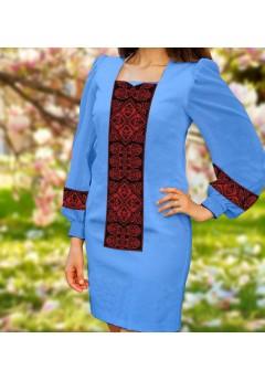 Плаття, голубий габардин (6095)