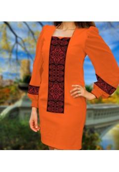 Плаття, оранжевий габардин (6095)