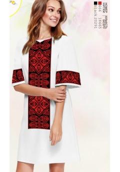 Плаття, льон білий (6095)