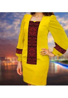 Плаття, жовтий габардин (6095)