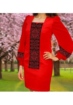 Плаття, червоний габардин (6095)