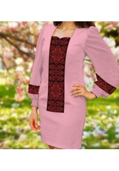 Плаття, рожевий габардин (6095)