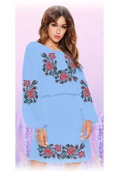 Плаття, голубий габардин (6096)