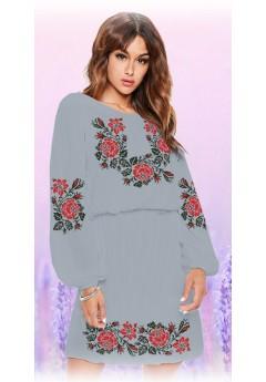 Плаття, сірий габардин (6096)