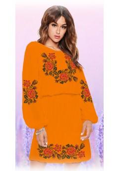 Плаття, оранжевий габардин (6096)