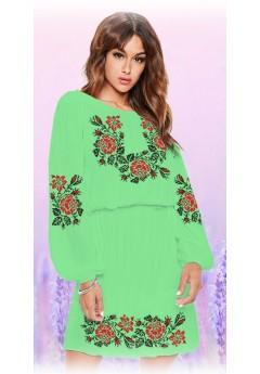 Плаття, салатовий габардин (6096)