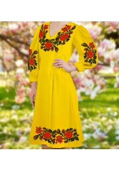 Плаття, жовтий габардин (6096)