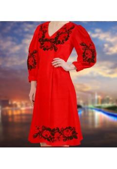 Плаття, червоний габардин (6096)