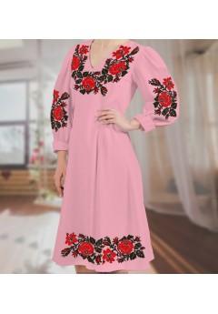 Плаття, рожевий габардин (6096)