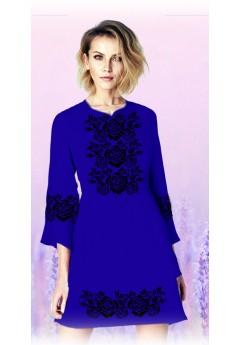 Плаття, синій габардин (6097)