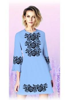Плаття, голубий габардин (6097)