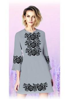 Плаття, сірий габардин (6097)