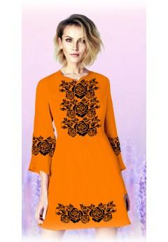 Плаття, оранжевий габардин (6097)