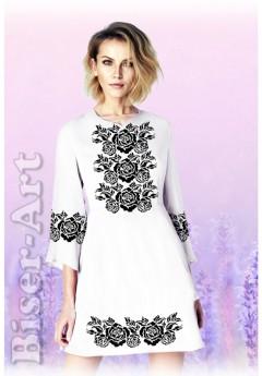 Плаття, льон білий (6097)