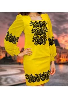 Плаття, жовтий габардин (6097)